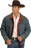 Wrangler® RED Blanket Lined REGULAR Denim Jacket