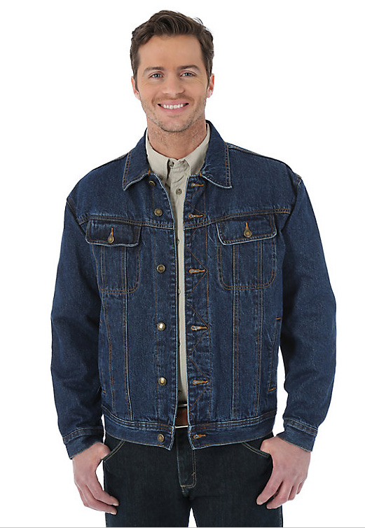 Wrangler® Rugged Wear®  FLANNEL LINED DENIM JACKET