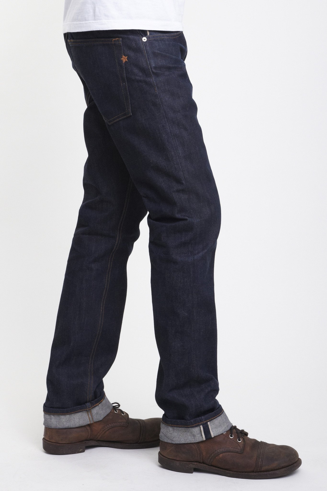 BRAVE STAR The True Straight 13.5oz 'Blue Collar' Cone Mills Selvage
