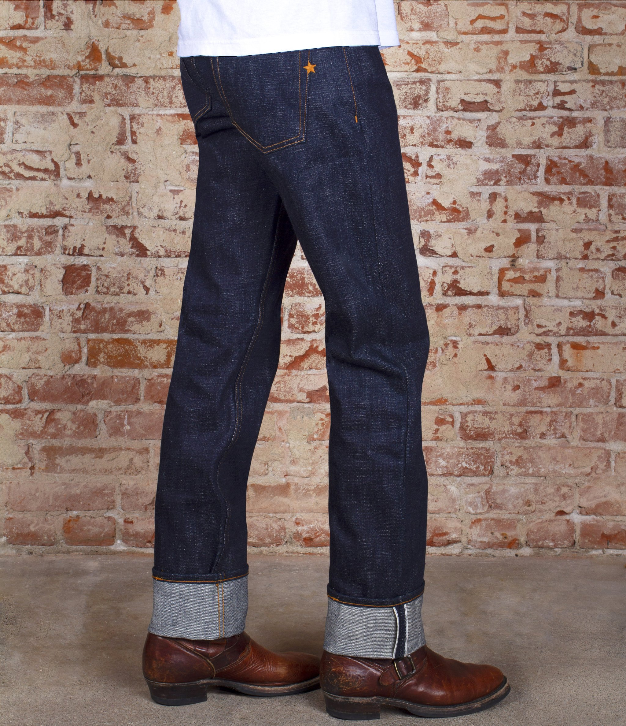 BRAVE STAR The True Straight 19oz 'Hatch Attack' Heavyweight Selvage