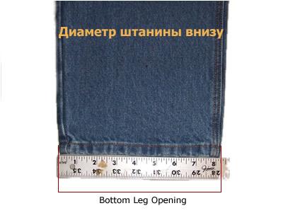 Американские размеры джинсов для
